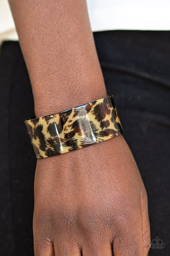 Paparazzi Accessories - Wheres The Party? - Brown Bracelet
