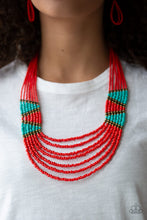 Load image into Gallery viewer, Paparazzi Accessories - Kickin It Outback - Red Necklace