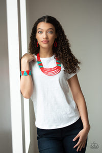 Paparazzi Accessories - Kickin It Outback - Red Necklace