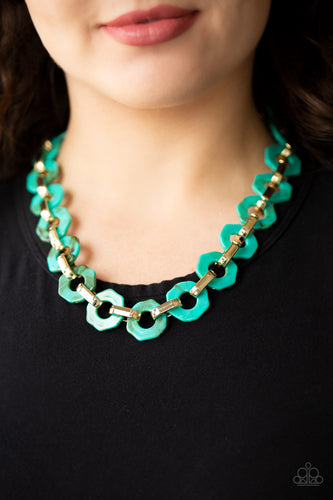 Paparazzi Accessories - Fashionista Fever - Blue Necklace
