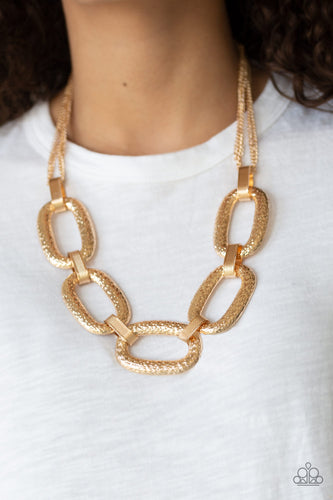 Paparazzi Accessories - Take Charge - Gold Necklace