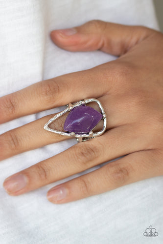 Paparazzi Accessories - Get The Point - Purple Ring