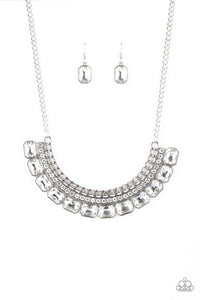 Paparazzi Jewelry & Accessories Killer Knockout white rhinestone shimmery necklace. Bling By Titia