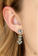 Load image into Gallery viewer, Paparazzi Accessories - Heartthrob Twinkle - Brass Earrings