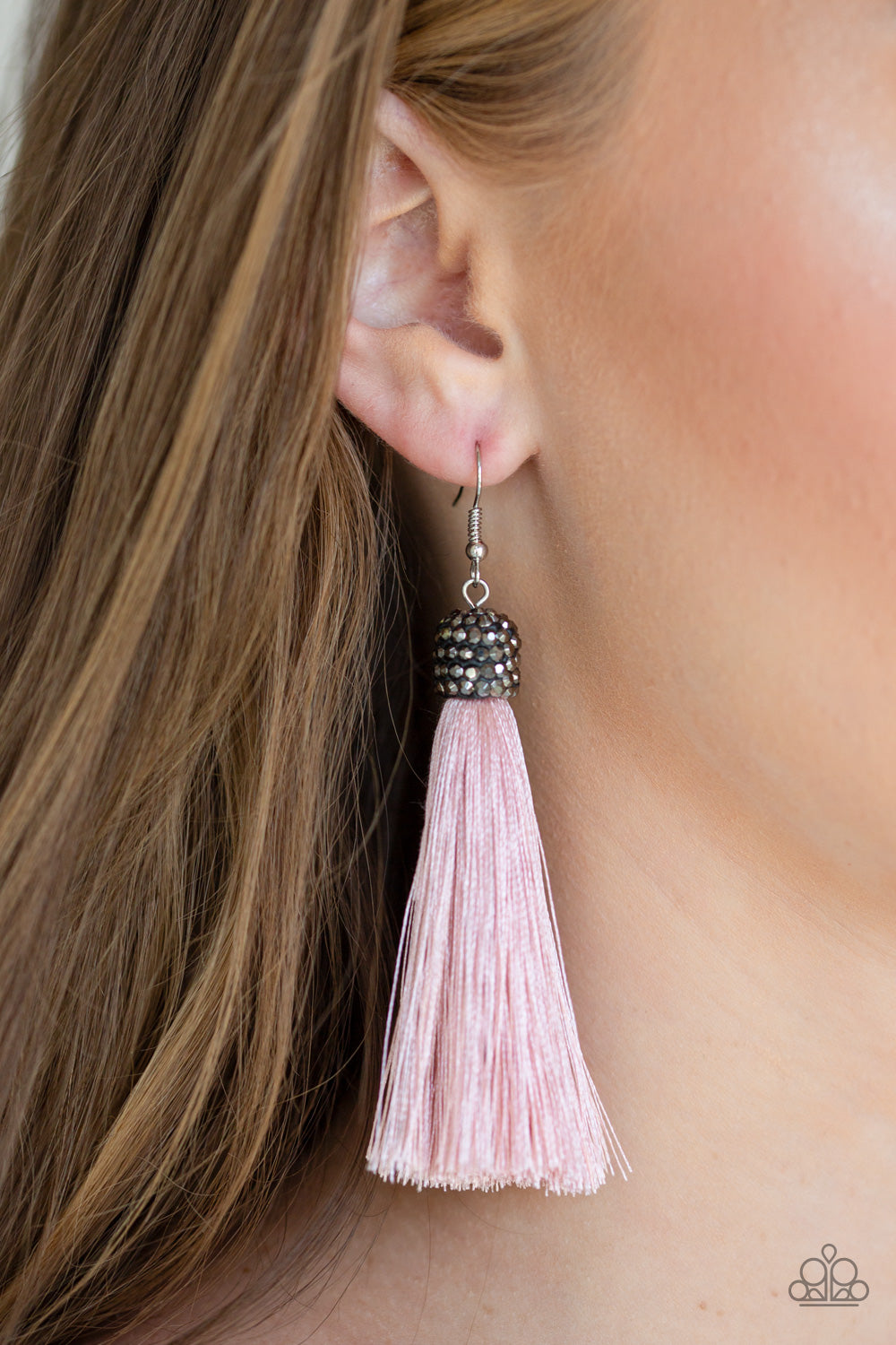 Make Room For Plume - Pink Tassel - Paparazzi Jewelry Earrings paparazzi accessories jewelry Earrings
