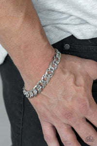 On The Ropes - Silver Chain Paparazzi Jewelry Bracelet paparazzi accessories jewelry Bracelet Men