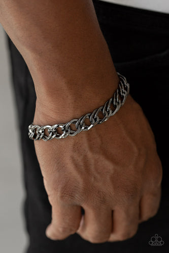 On The Ropes - Black Chain Paparazzi Jewelry Bracelet paparazzi accessories jewelry Bracelet Men