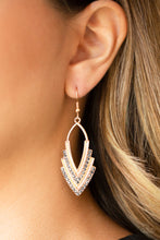 Load image into Gallery viewer, Paparazzi Accessories - Tour de Force - Gold Earrings