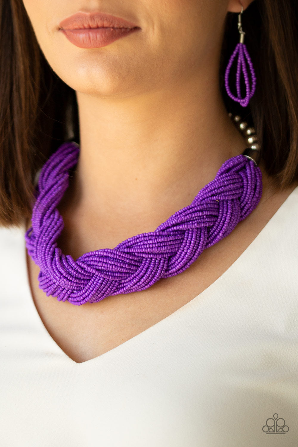Paparazzi Jewelry & Accessories - The Great Outback - Purple Seed Bead Necklace. Bling By Titia Boutique