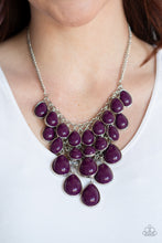 Load image into Gallery viewer, Paparazzi Accessories - Shop Til You TEARDROP - Purple Necklace