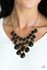Paparazzi Accessories - Shop Til You TEARDROP - Black Necklace