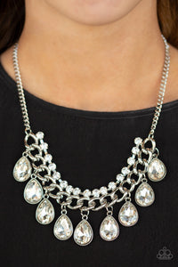 Paparazzi Accessories - All Toget-HEIR Now - White Necklace