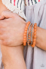 Load image into Gallery viewer, Paparazzi Jewelry & Accessories - Glimpses of Malibu Silver and Orange set - June 2020. Bling By Titia Boutique