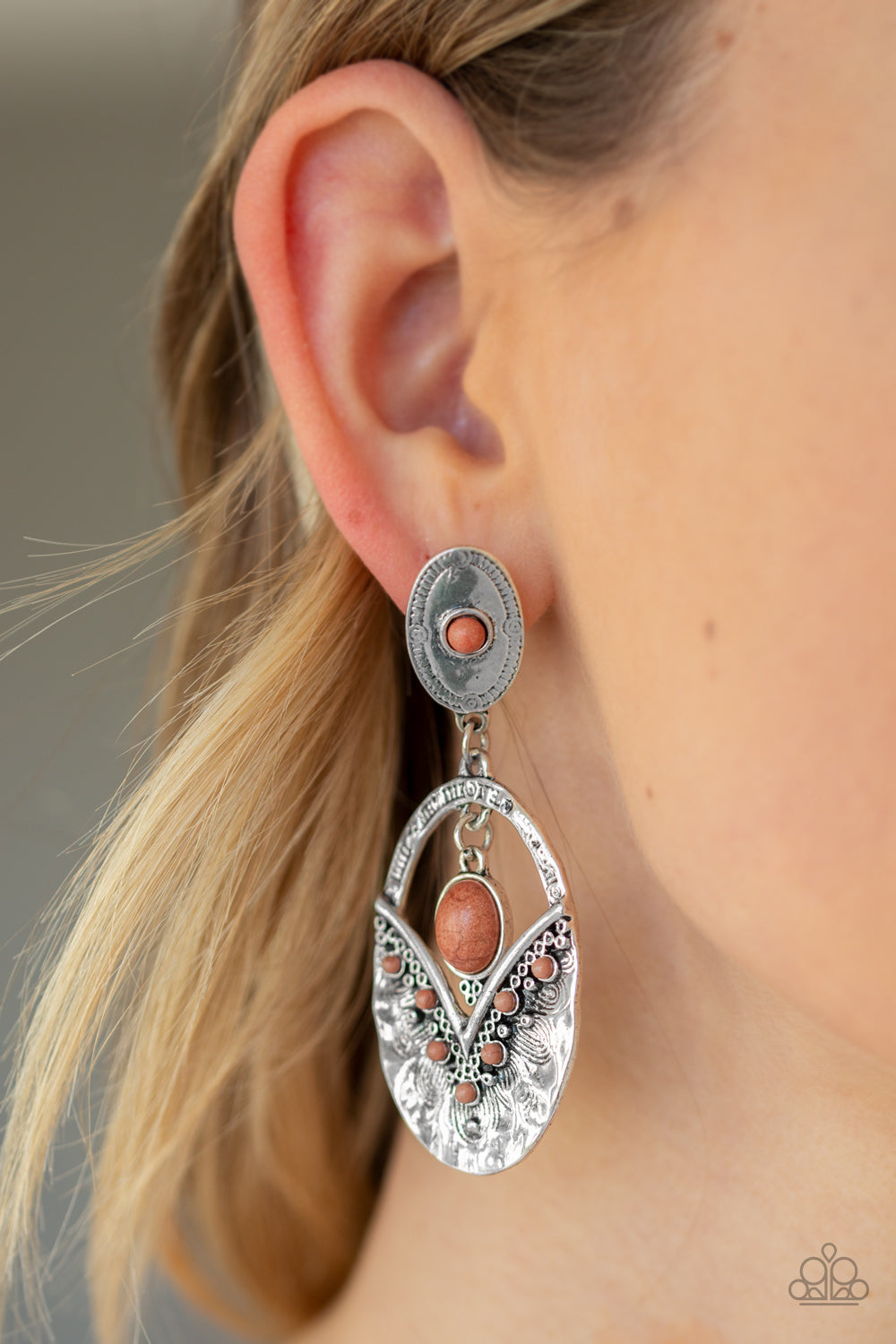 Paparazzi Jewelry & Accessories - Terra Tribute - Brown Earrings. Bling By Titia Boutique