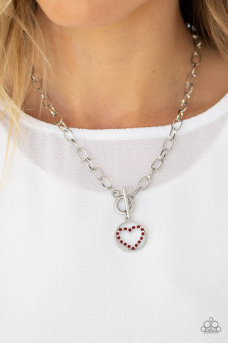 Paparazzi Accessories - With My Whole Heart - Red Necklace