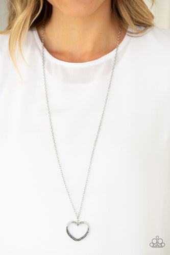 Paparazzi Accessories - Bighearted - Silver Necklace