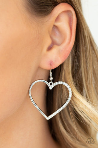 Paparazzi Accessories - First Date Dazzle - White Earrings