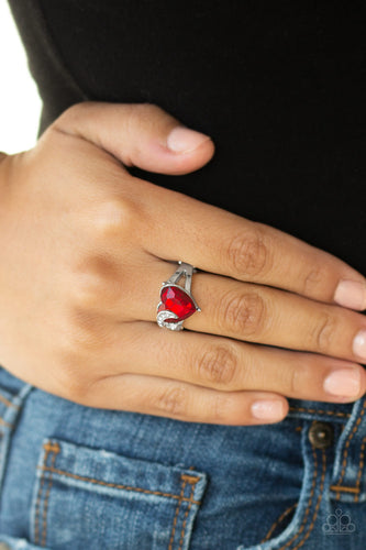 Paparazzi Accessories - Romantic Reverie - Red Ring