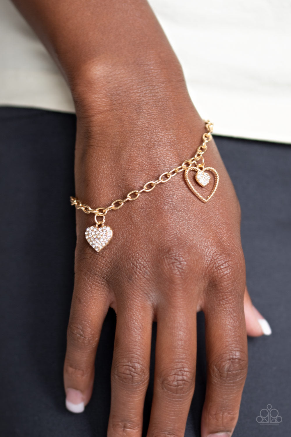 Paparazzi Accessories - Hearts and Harps - Gold Bracelet