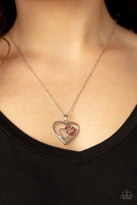 Paparazzi Accessories - Cupid Charm - Red Necklace