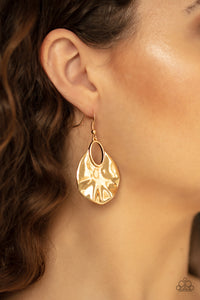 Paparazzi Jewelry & Accessories - Ruffled Refinery - Gold Earrings. Bling By Titia Boutique