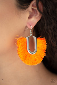 Paparazzi Jewelry & Accessories - Tassel Tropicana - Orange Fringe Earrings. Bling By Titia Boutique