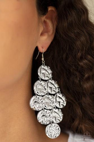 Paparazzi Jewelry & Accessories - Metro Trend - Silver Earrings. Bling By Titia Boutique