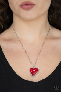 Paparazzi Accessories - Heart Flutter - Red Necklace