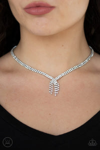 Paparazzi Jewelry & Accessories - Ante Up White Rhinestone Choker. Bling By Titia Boutique