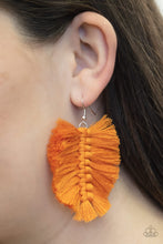 Load image into Gallery viewer, Paparazzi Jewelry & Accessories - Knotted Native - Orange Fringe Earrings. Bling By Titia Boutique