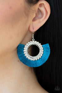Paparazzi Jewelry & Accessories - Fringe Fanatic - Blue Earrings. Bling By Titia Boutique