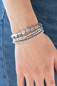 Paparazzi Jewelry & Accessories - Ancient Heirloom - Silver Bracelet. Bling By Titia Boutique