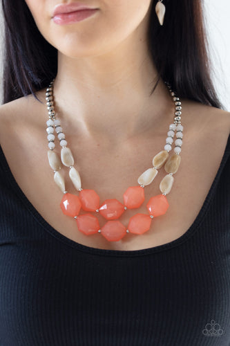 Paparazzi Jewelry & Accessories - Seacoast Sunset - Orange Necklace. Bling By Titia Boutique