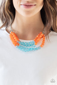 Paparazzi Jewelry & Accessories - Summer Ice - Orange Necklace. Bling By Titia Boutique
