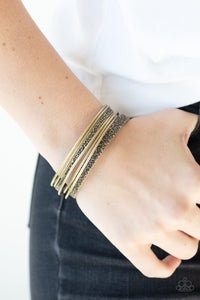 Paparazzi Jewelry & Accessories - Full Circle - Brass Bangles Bracelet. Bling By Titia Boutique