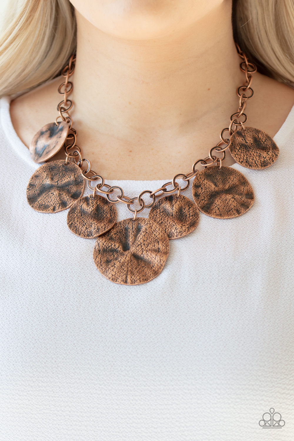PaparazziJewelry & Accessories - Barely Scratched The Surface - Copper Necklace. Bling By Titia Boutique
