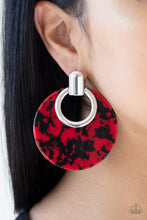 Load image into Gallery viewer, Paparazzi Jewelry & Accessories - Metro Zoo - Red Earrings. Bling By Titia Boutique