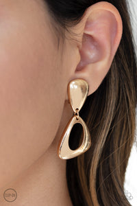 Paparazzi Jewelry & Accessories - Going for Broker - Gold Earrings. Bling By Titia Boutique