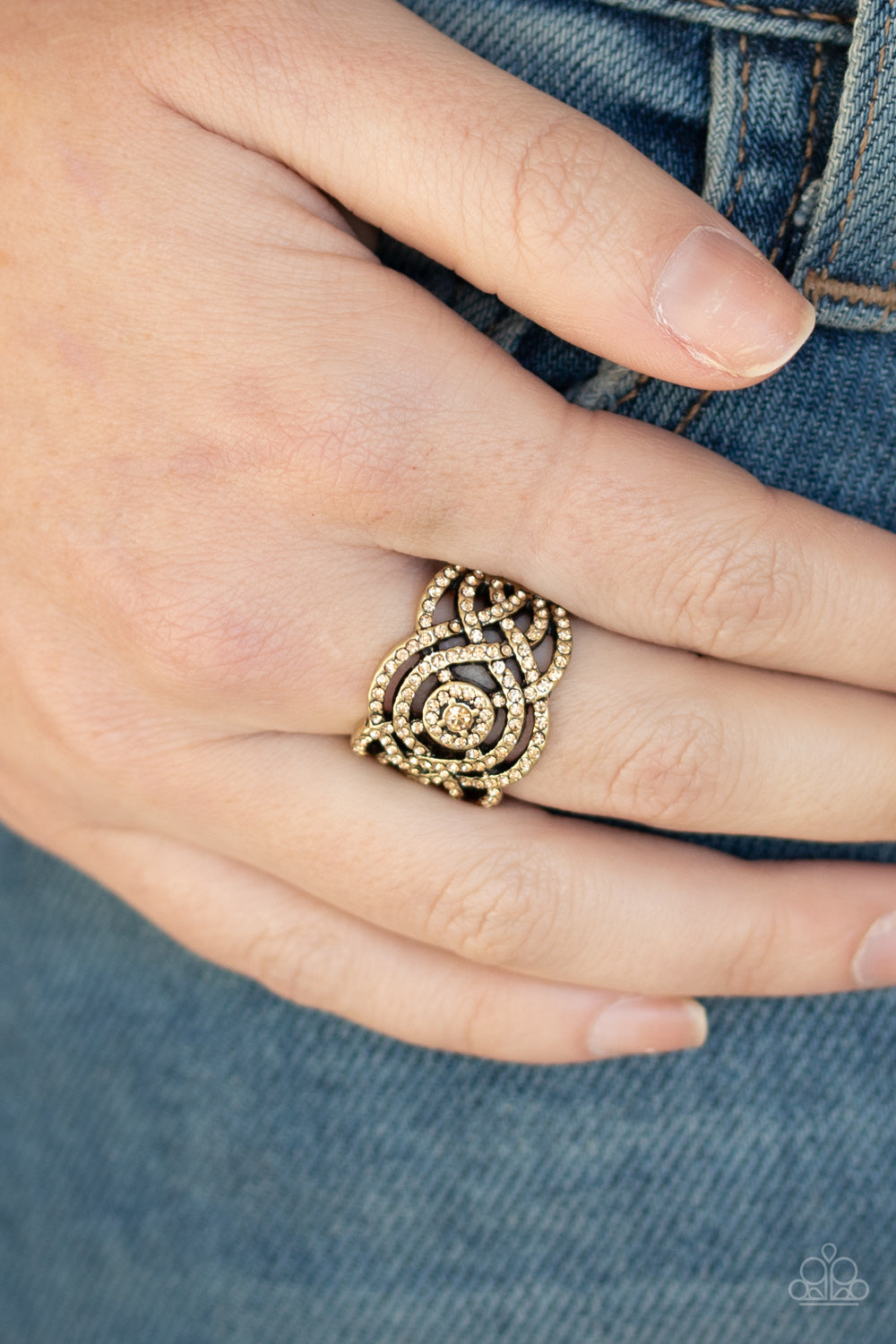 Paparazzi Jewelry & Accessories - COUNTESS To Ten - Brown Ring. Bling By Titia Boutique