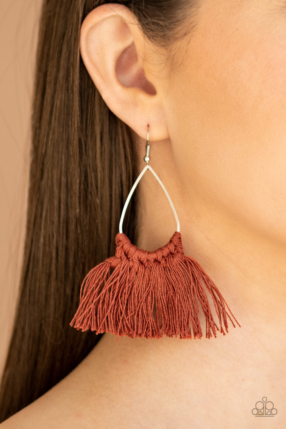 Paparazzi Jewelry & Accessories - Tassel Treat - Brown Earrings. Bling By Titia Boutique