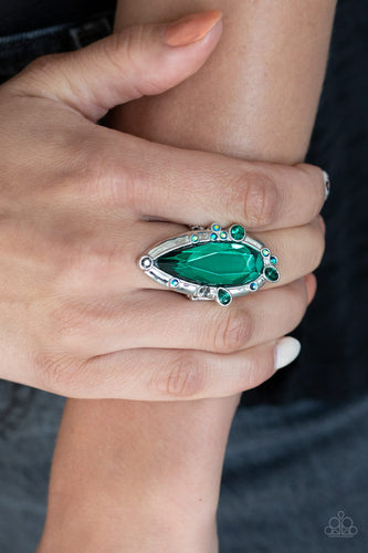 Paparazzi Jewelry & Accessories - Sparkle Smitten - Green Ring. Bling By Titia Boutique