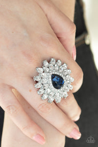 Paparazzi Jewelry & Accessories - Whos Counting? - Blue Ring. Bling By Titia Boutique