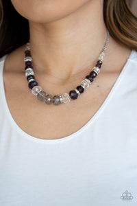 Paparazzi Jewelry & Accessories - Distracted By Dazzle - Purple Necklace. Bling By Titia Boutique