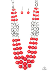 Paparazzi Jewelry & Accessories - A La Vogue - Red Necklace. Bling By Titia Boutique