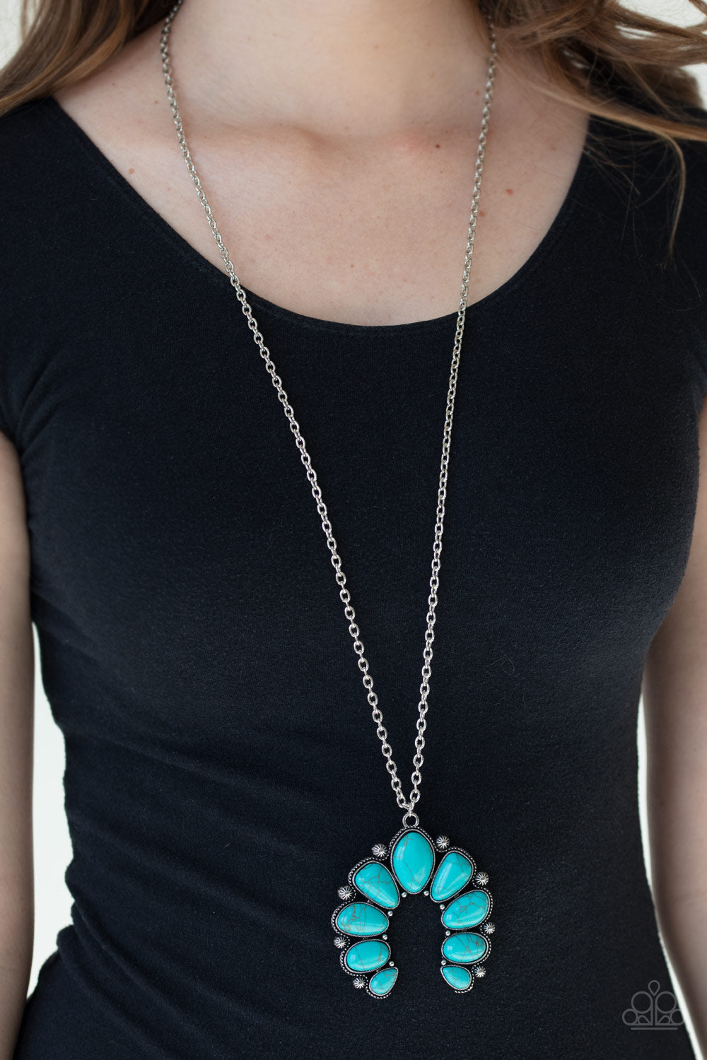 Paparazzi Jewelry & Accessories - Stone Monument - Blue Necklace. Bling By Titia Boutique