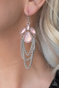 Paparazzi Jewelry & Accessories - Opalescence Essence - Pink Earrings. Bling By Titia Boutique