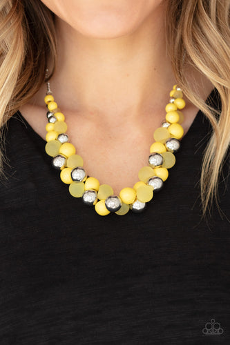 Paparazzi Jewelry & Accessories - Bubbly Brilliance - Yellow Necklace. Bling By Titia Boutique