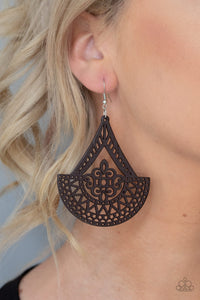 Paparazzi Jewelry & Accessories -Tiki Sunrise - Brown Earrings. Bling By Titia Boutique