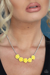 Paparazzi Jewelry & Accessories - Garden Party Posh - Yellow Necklace. Bling By Titia Boutique