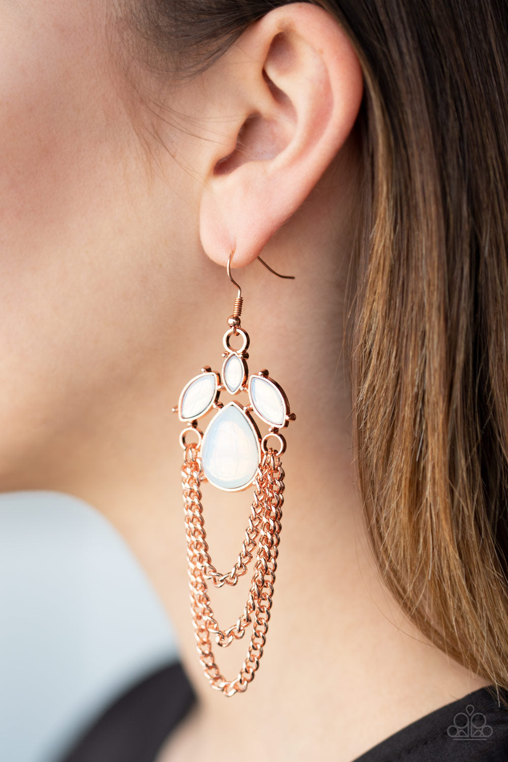 Paparazzi Jewelry & Accessories - Opalescence Essence - Copper Earrings. Bling By Titia Boutique